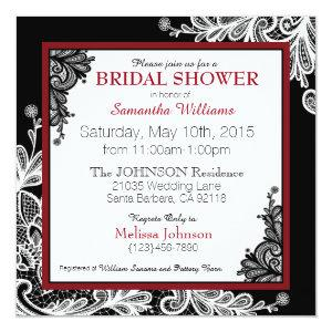 White Lace Black Modern Goth Bridal Shower Invitation starting at 2.72