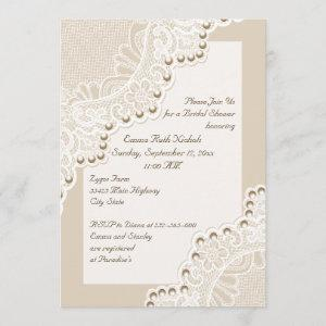 White lace with pearls wedding bridal shower starting at 2.66