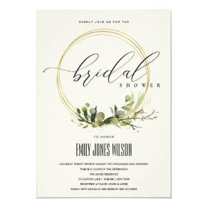 WHITE LEAFY GREEN FOLIAGE WATERCOLOR BRIDAL SHOWER INVITATION starting at 2.65