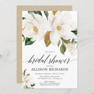 White magnolia floral rustic bridal shower starting at 2.55