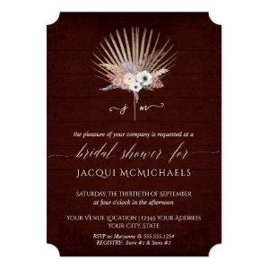 White Orchid Floral Burgundy Beach Bridal Shower Invitation starting at 2.80