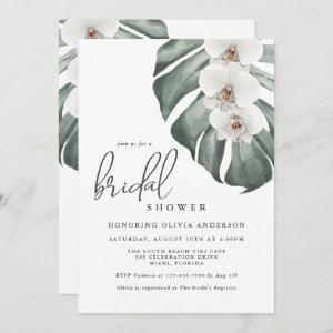 White Orchids Tropical Paradise Bridal Shower Invitation starting at 2.51