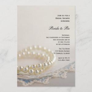 White Pearls and Blue Vintage Lace Bridal Shower starting at 2.60