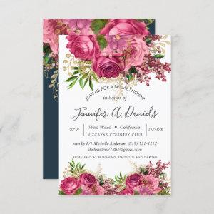 White Pink Watercolor Floral Bridal Shower Invitation starting at 1.95