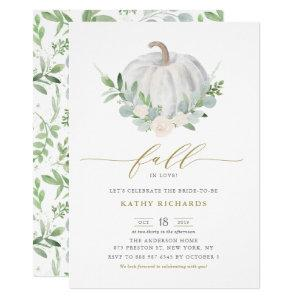White Pumpkin and Greenery Fall Bridal Shower Invitation starting at 3.15
