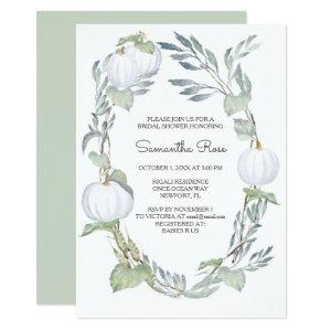WHITE PUMPKIN Bridal Shower Invite starting at 2.20