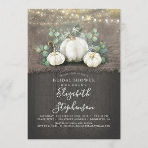 White Pumpkins Rustic Country Fall Bridal Shower starting at 2.51