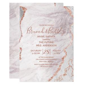 White & Rose Gold Brunch & Bubbly Bridal Shower Invitation starting at 2.55