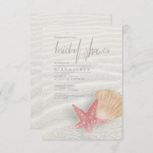 White Sands Bridal Shower Coral/Peach ID605 Invitation starting at 2.21
