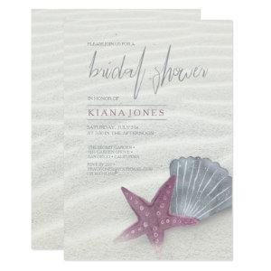 White Sands Bridal Shower Plum/Steel Blue ID605 Invitation starting at 2.21