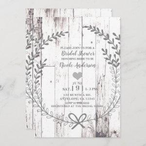 White Wood Rustic Farmhouse Country Bridal Shower Invitation starting at 2.77