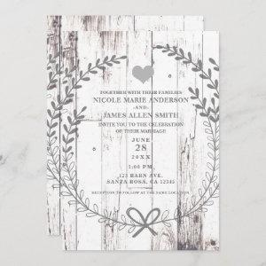 White Wood Rustic Farmhouse Country Wedding starting at 2.77