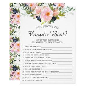 Who Knows the Couple Best Game Bridal Shower Invitation starting at 2.40