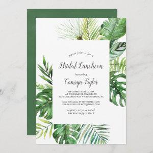 Wild Tropical Palm Bridal Luncheon Invitation starting at 2.51