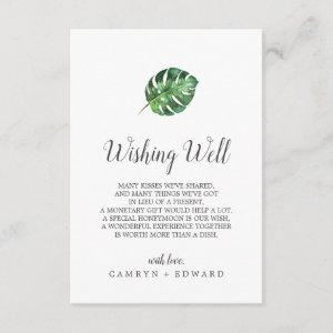 Wild Tropical Palm Wedding Wishing Well Card starting at 1.91