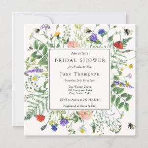 Wildflower Fields and Buzzing Bees Bridal Shower Invitation starting at 2.55