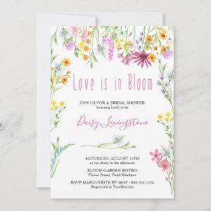 Wildflower Meadow Love is in Bloom Bridal Shower Invitation starting at 2.51