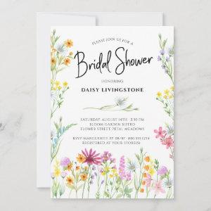 Wildflower Meadow Pretty Floral Bridal Shower Invitation starting at 2.51
