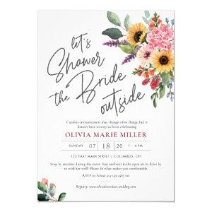 Wildflowers Drive By Bridal Shower Invite starting at 2.25