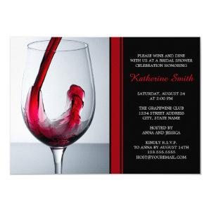 Wine Glass Bridal Shower Invitations - Custom starting at 2.20