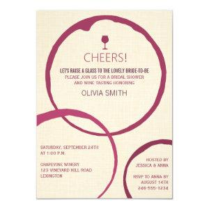 Wine Stain Rings Bridal Shower Invitations starting at 2.20