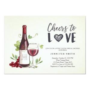 Wine Tasting Bridal shower invite Rustic Winery starting at 2.66