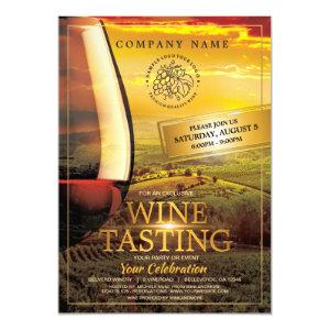 Wine Tasting Event Invitation Template starting at 2.70