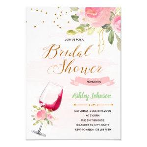 Wine theme bridal shower invitation starting at 2.50
