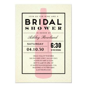 Wine Themed Bridal Shower Invitations starting at 2.82