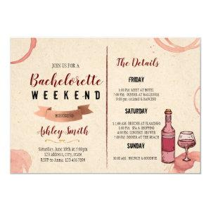 Wine weekend bachelorette invitation starting at 2.50