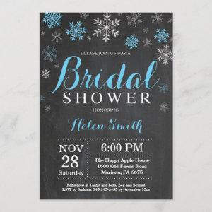 Winter Bridal Shower Blue and White Snowflake Invitation starting at 2.35