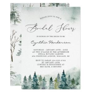 Winter Bridal Shower Elegant Forest Pine Trees Invitation starting at 2.40