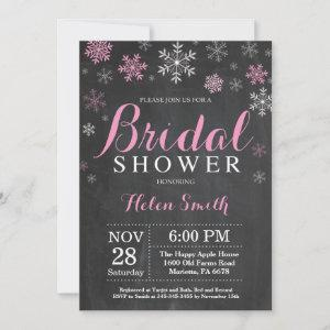 Winter Bridal Shower Pink and White Snowflake Invitation starting at 2.35