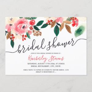 Winter Christmas red green floral bridal shower Invitation starting at 2.40