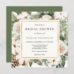 Winter Evergreen and Pine Bridal Shower Invitation starting at 2.40