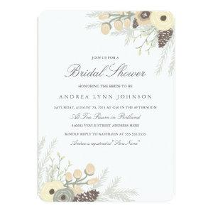 Winter Foliage Bridal Shower Invitation starting at 2.71