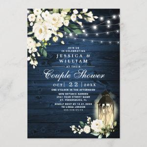 Wood White Rose Lantern Watercolor Couple Shower Invitation starting at 2.25