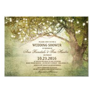Woodland Outdoor String Lights Couples Shower Invitation starting at 2.65