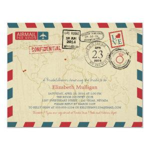 World Traveler Airmail | Bridal Shower Invitation starting at 2.25