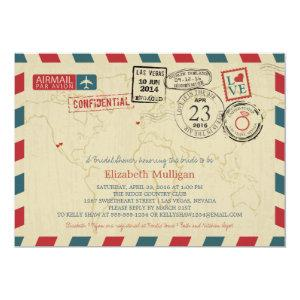 World Traveler Airmail | New York Bridal Shower Invitation starting at 2.60