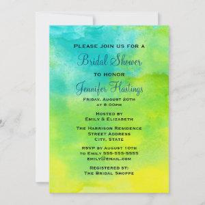 Yellow and Blue Watercolor Bridal Shower Invitation starting at 2.66