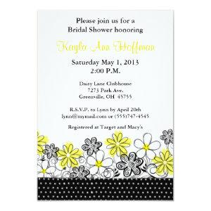Yellow Black Floral Bridal Shower Invitation starting at 2.56