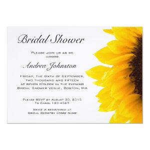 Yellow Black Sunflower Bridal Shower Invitation starting at 3.30