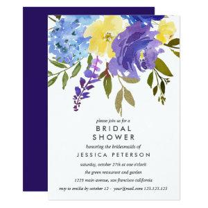Yellow Blue Flowers Wedding Bridal Shower Invitation starting at 2.51
