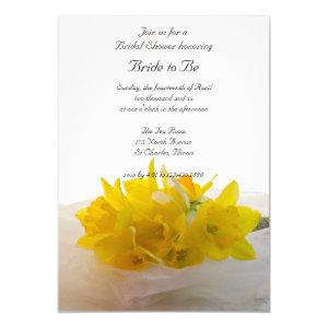 Yellow Daffodils on White Spring Bridal Shower Invitation starting at 2.60