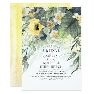 Yellow Floral Bohemian Chic Bridal Shower Invitation starting at 2.26