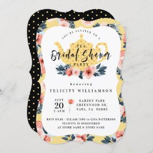Yellow Floral Tea Party Bridal Shower Invitation starting at 2.80