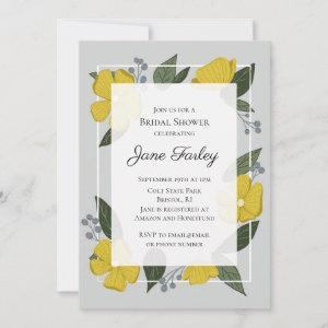 Yellow Florals Bridal Shower Invitation starting at 2.10