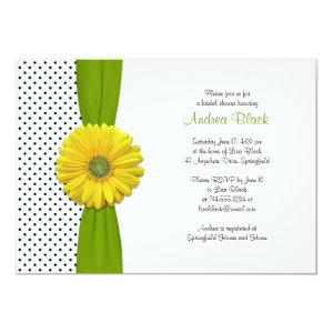 Yellow Gerbera Daisy Polka Dot Bridal Shower Invitation starting at 2.66