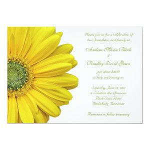 Yellow Gerbera Daisy Wedding Invitation starting at 2.66